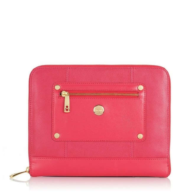 knomo-ipad-tablet-leather-zip-sleeve-teaberry-front