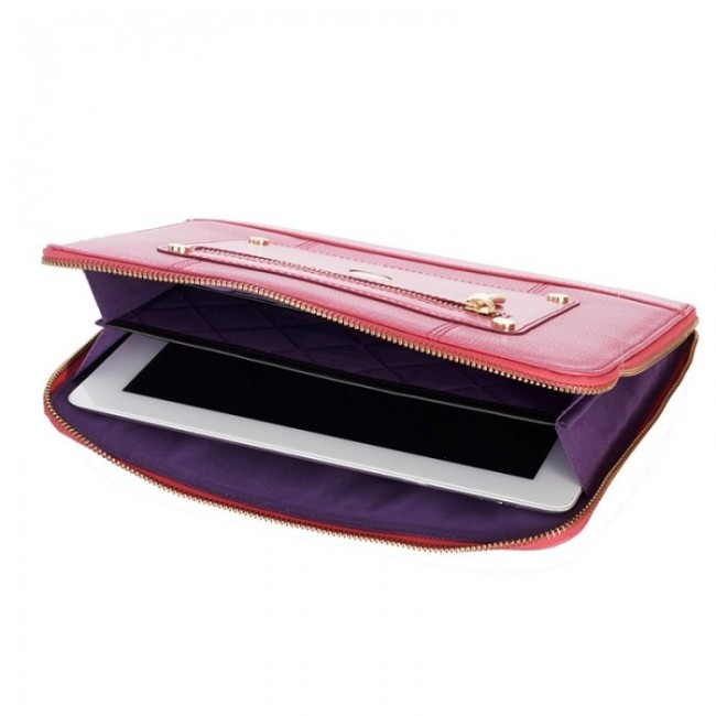 knomo-ipad-tablet-leather-zip-sleeve-teaberry-open-1